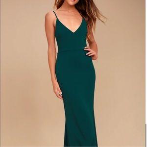 Lulu's Infinite Glory Emerald Green Dress